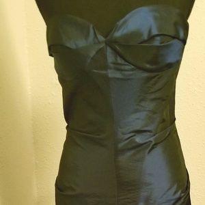Strapless Florescent Chiffon Gown